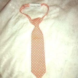 Toddler boys tie Orange TrendyTies 0-6yrs